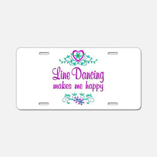 Line Dancing Happy Aluminum License Plate