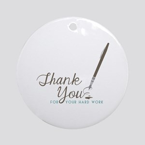Thank You For Work Ornament (Round)