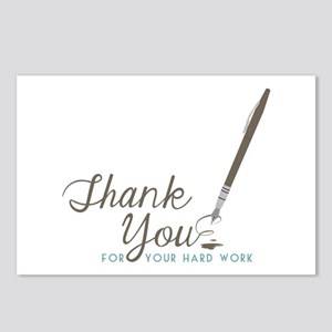 Thank You For Work Postcards (Package of 8)