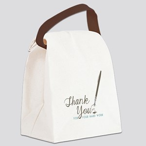 Thank You For Work Canvas Lunch Bag