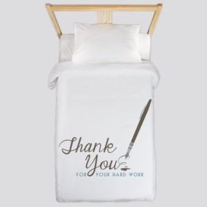 Thank You For Work Twin Duvet