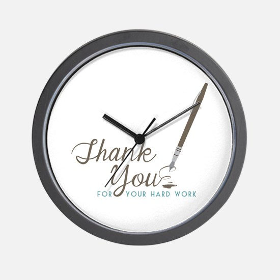 Thank You For Work Wall Clock