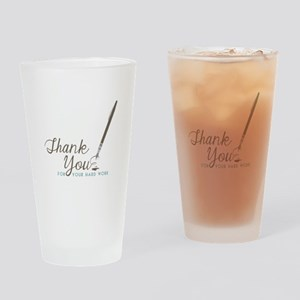 Thank You For Work Drinking Glass