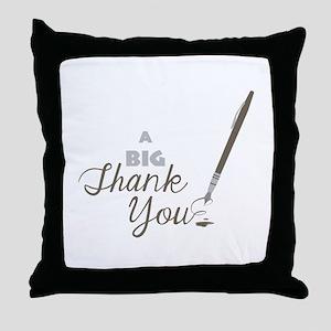 Big Thank You Throw Pillow