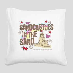 HIMYM Sandcastles Square Canvas Pillow