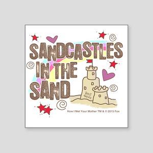 "HIMYM Sandcastles Square Sticker 3"" x 3"""