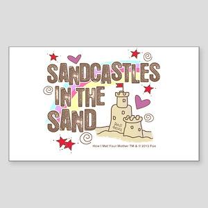 HIMYM Sandcastles Sticker (Rectangle)