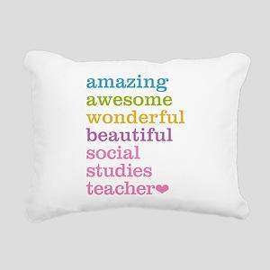 Social Studies Teacher Rectangular Canvas Pillow