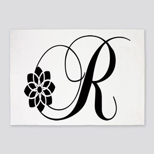 R letter 5'x7'Area Rug