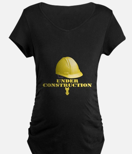 baby-under-construction Maternity T-Shirt
