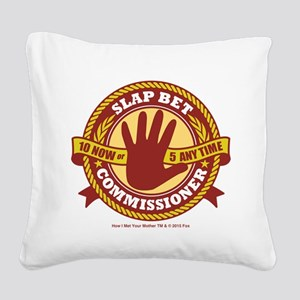 HIMYM Commissioner Square Canvas Pillow