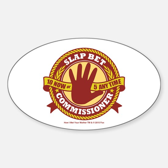 HIMYM Commissioner Sticker (Oval)