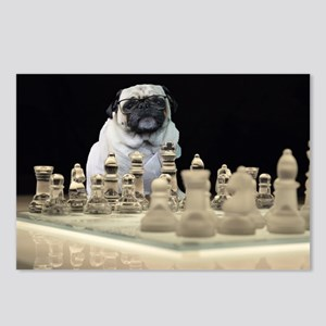 Sexy Pug Playing Chess Postcards (Package of 8)