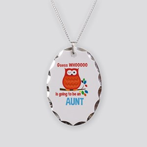 Bold Owl - New Aunt Necklace Oval Charm