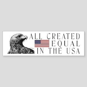 All Created Equal Eagle Bumper Sticker