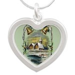Winter Scene With Holly Necklaces