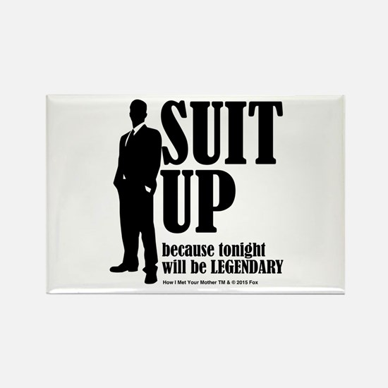 HIMYM Suit Rectangle Magnet
