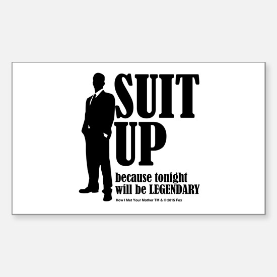 HIMYM Suit Sticker (Rectangle)