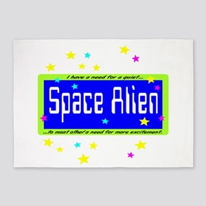 Space Alien 5'x7'Area Rug