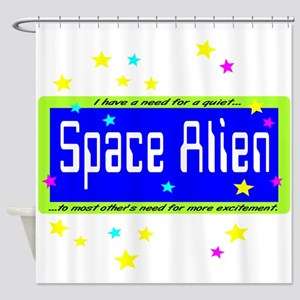Space Alien Shower Curtain