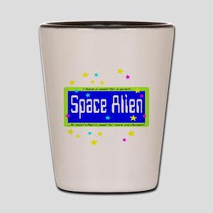 Space Alien Shot Glass
