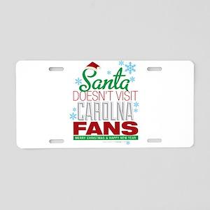Santa Doesen't Visit CAROLINA Fans Aluminum Licens