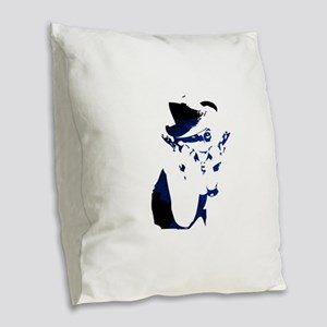 Gangster girl Burlap Throw Pillow