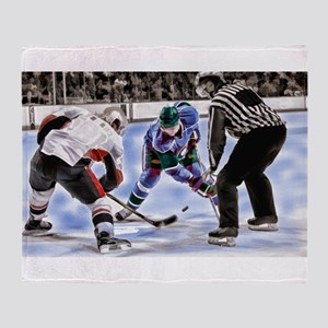 Ice Hockey Players and Referee Throw Blanket
