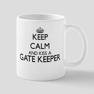 Keep calm and kiss a Gate Keeper Mugs