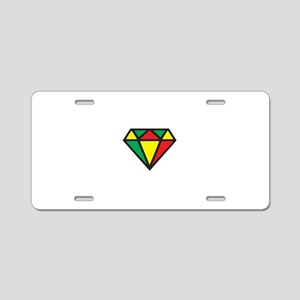 Reggae Diamond Aluminum License Plate
