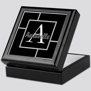 Personalized Name Monogram Keepsake Box