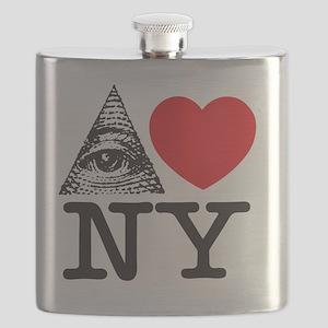 Eye Love NY Flask