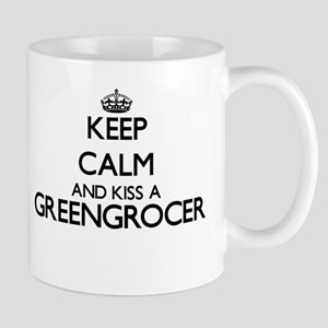 Keep calm and kiss a Greengrocer Mugs