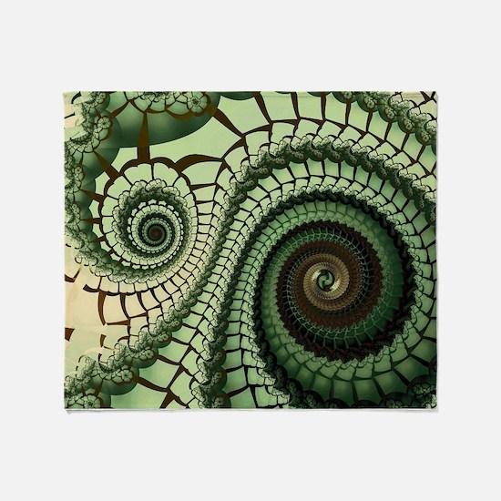 Cool Spiral fractal Throw Blanket