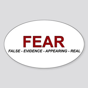 Fear Oval Sticker