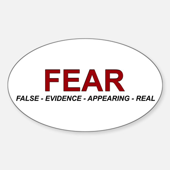Fear Oval Decal