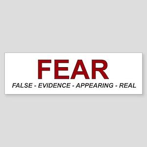 Fear Bumper Sticker