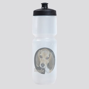 Close Up Beagle Puppy Sports Bottle
