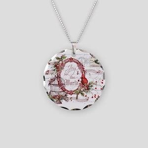 Joy To the World Necklace Circle Charm
