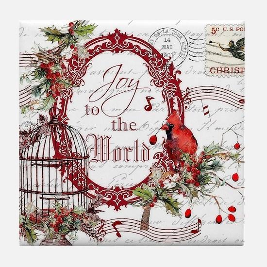 Joy To the World Tile Coaster