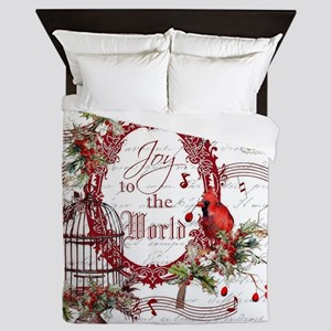 Joy To the World Queen Duvet