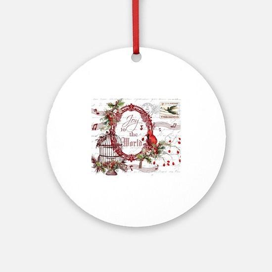 Joy To the World Ornament (Round)