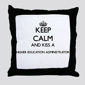 Keep calm and kiss a Higher Education Throw Pillow