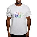 Adult Light T-Shirt with Rainbow Logo