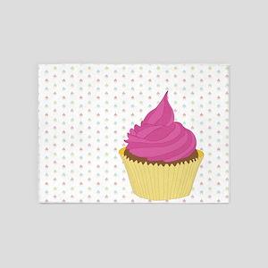 Big Pink Cupcake 5'x7'Area Rug