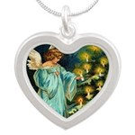 Angel And Christmas Tree Necklaces