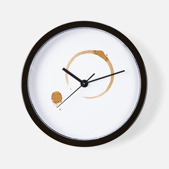 Coffee Stain Wall Clock