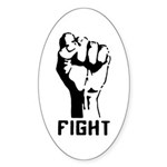 Fight The Power Oval Sticker