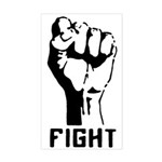 Fight The Power Rectangle Sticker