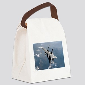 Fighter Jet Canvas Lunch Bag